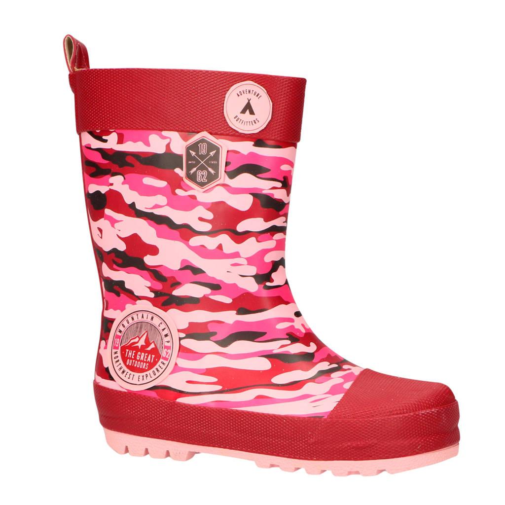 Gevavi   Kris regenlaarzen camouflage roze, Roze/Camouflage
