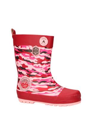 Kris regenlaarzen camouflage roze