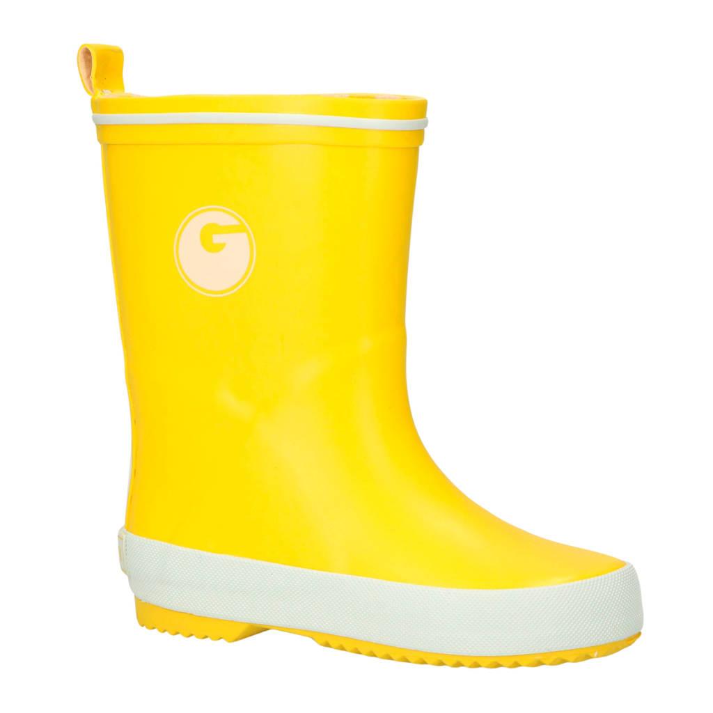 Gevavi   Groovy regenlaarzen geel kids, Geel/wit