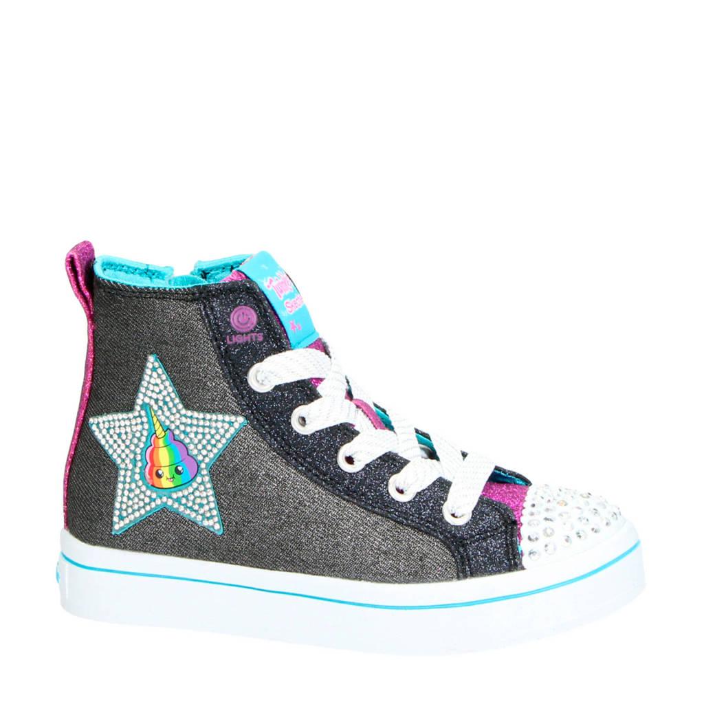 Skechers   Patch Cuties sneakers met lichtjes, Antraciet