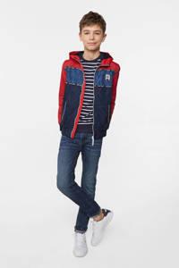 WE Fashion zomerjas rood/donkerblauw/blauw, Rood/donkerblauw/blauw