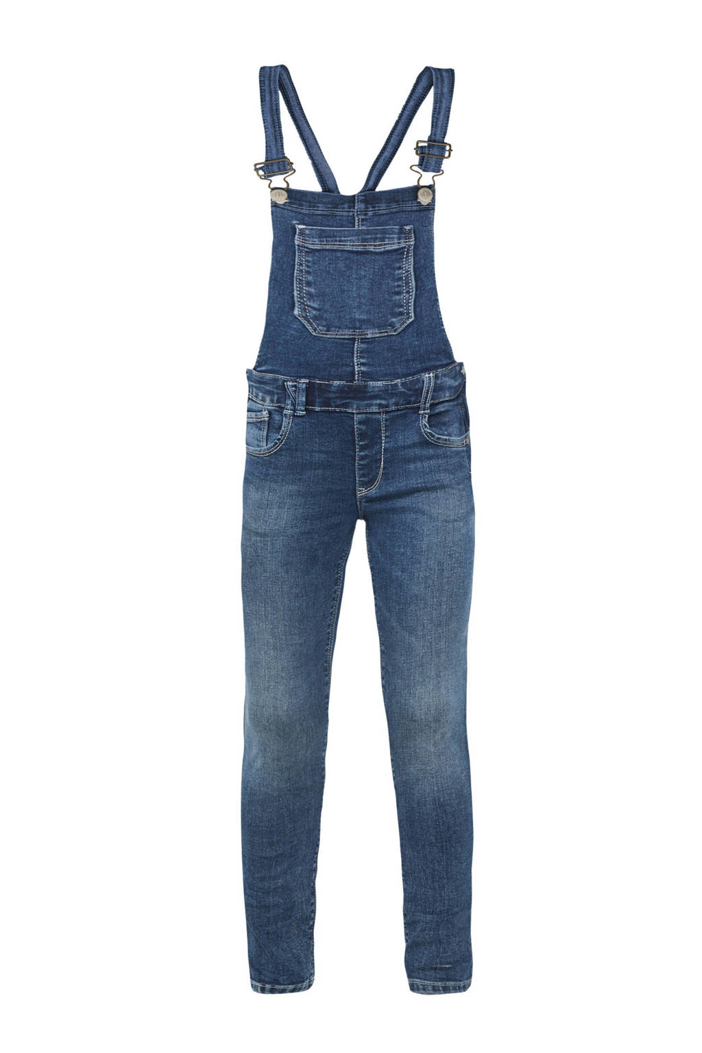 WE Fashion Blue Ridge super skinny fit tuinbroek stonewashed, Blauw