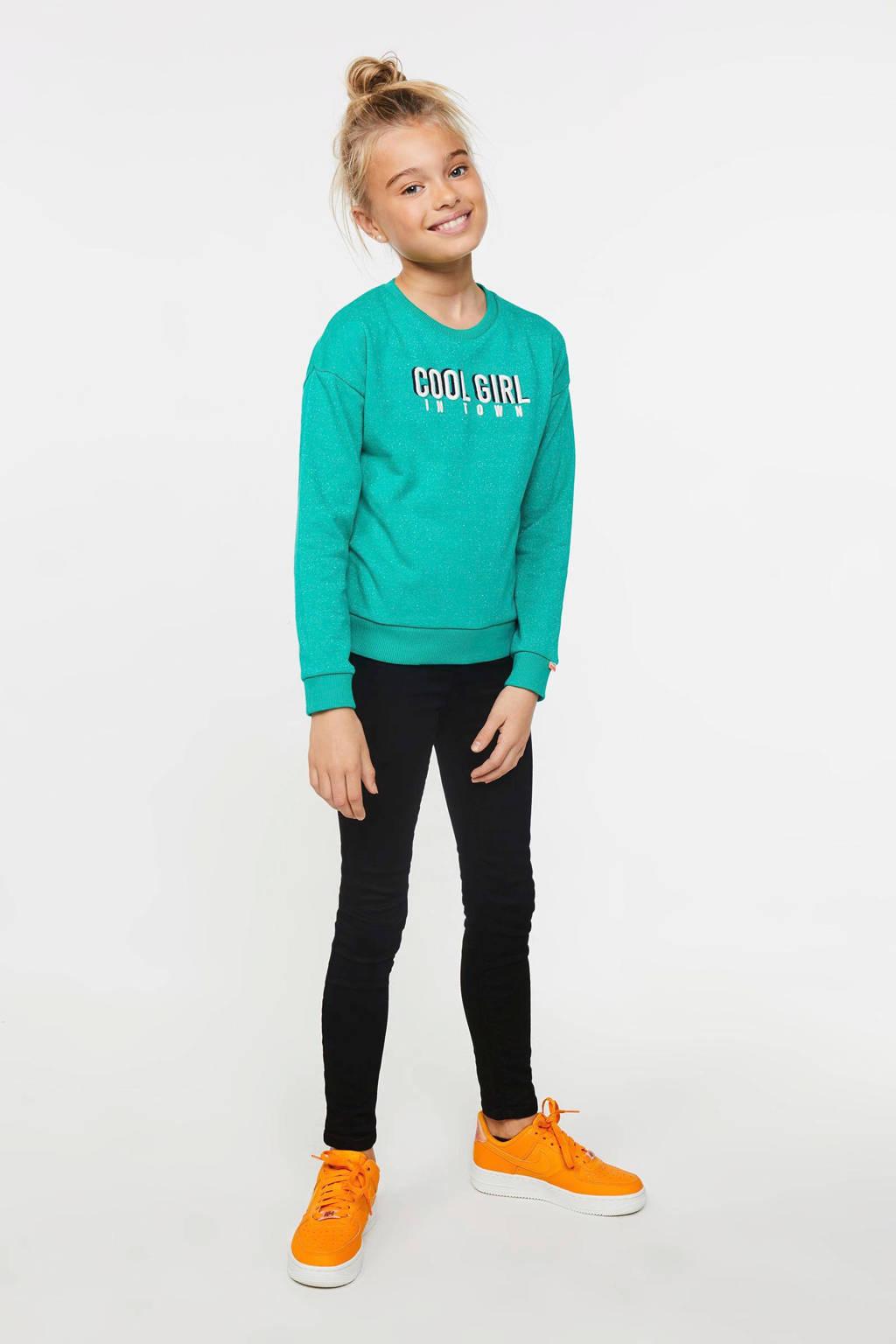 WE Fashion Blue Ridge skinny jeans Yfke zwart, Zwart