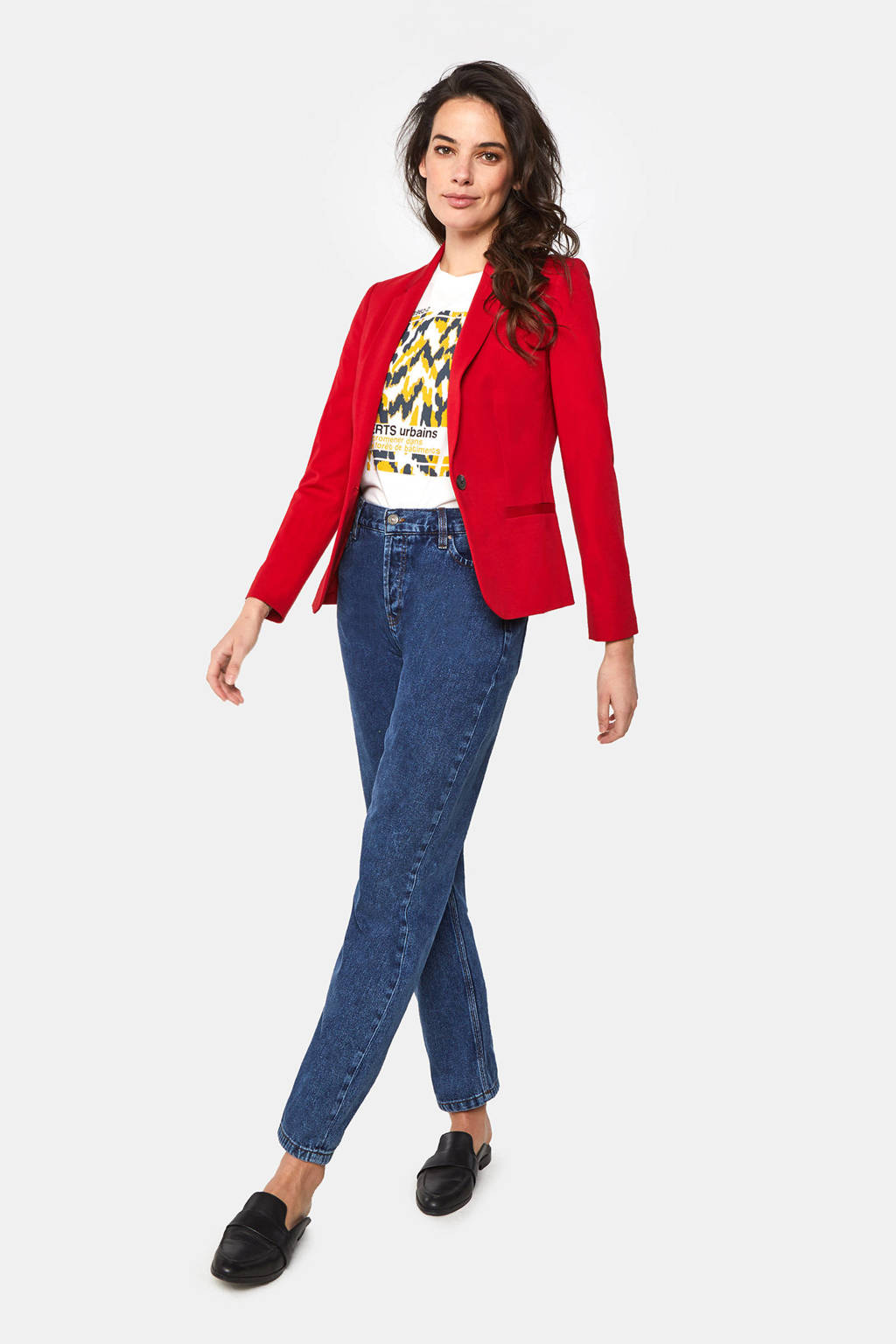 WE Fashion blazer rood, Rood