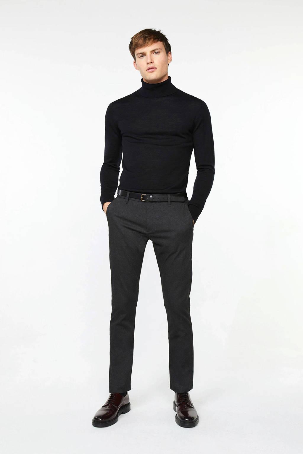 WE Fashion slim fit chino black uni, Black Uni