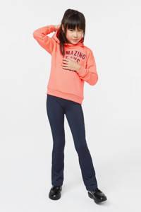WE Fashion hoodie met tekst en borduursels oranje/rood, Oranje/rood
