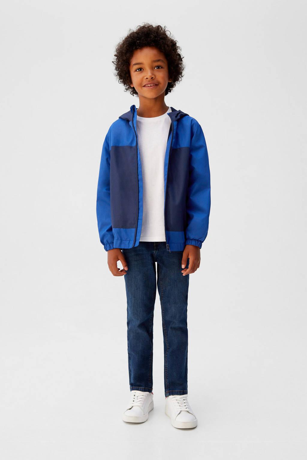 Mango Kids tussenjas blauw, Blauw