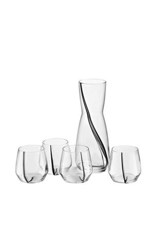 Élevé glazenset met karaf (set van 5)