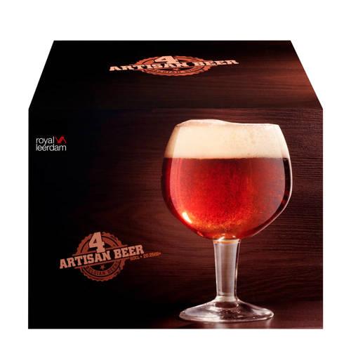 Royal Leerdam Artisan bierglas op voet 60 cl 4 stuks