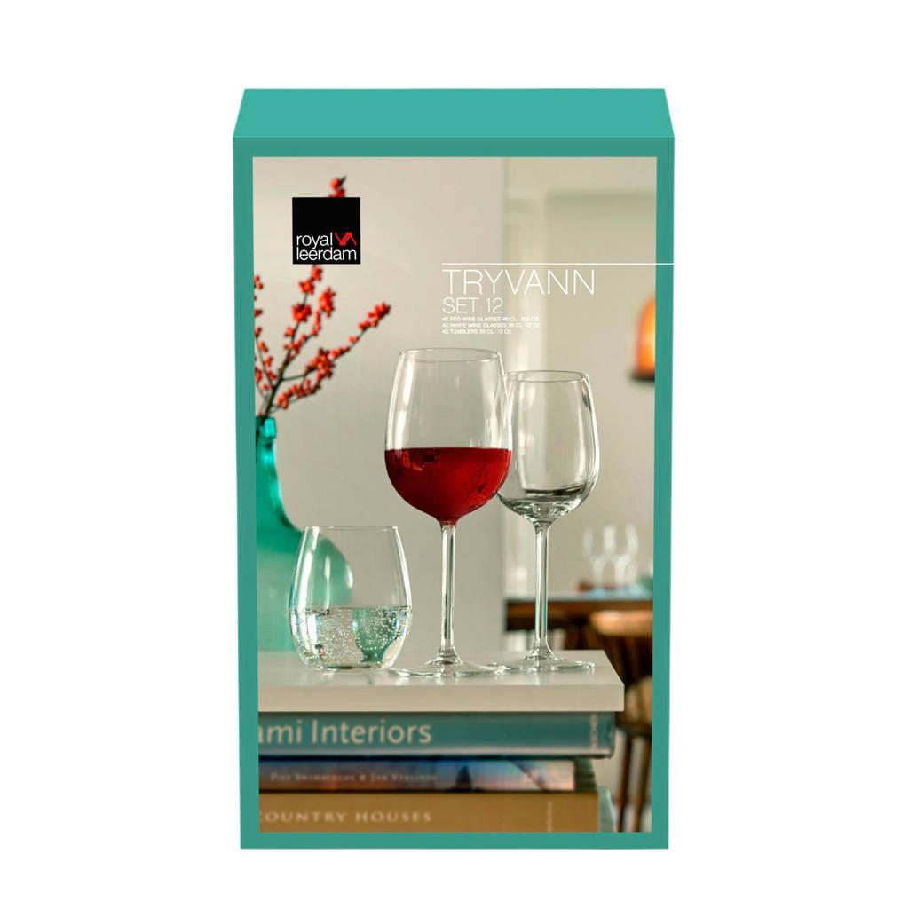 Royal Leerdam Tryvann combibox glazenset (set van 12), Transparant