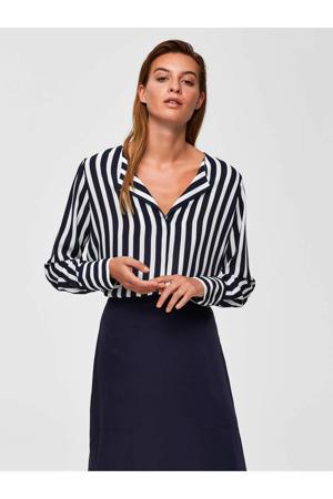 gestreepte blouse donkerblauw
