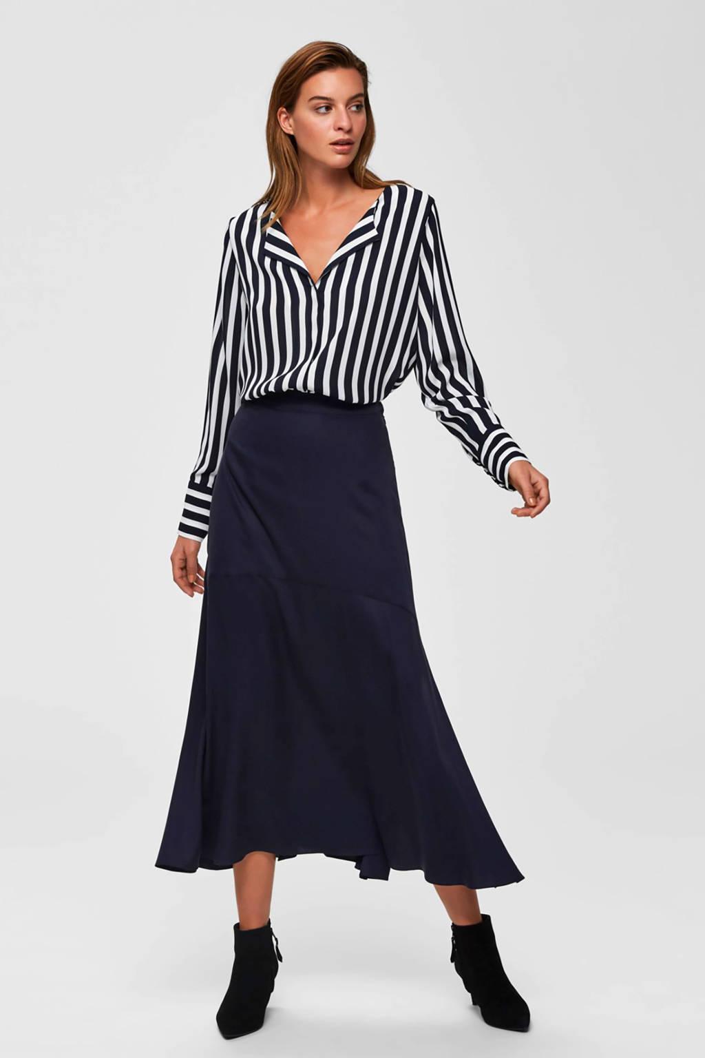SELECTED FEMME gestreepte blouse donkerblauw, Donkerblauw
