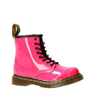 1460 Patent T lakleren veterboots roze