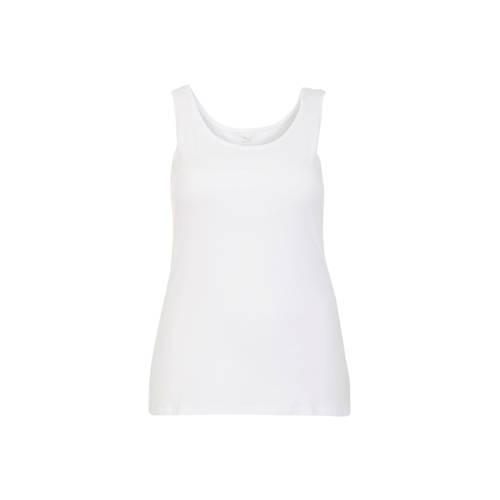 Miss Etam Plus T-shirt met biologisch katoen wit
