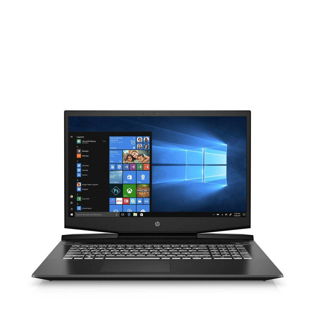 HP Pavilion 17-CD0700ND 17.3 inch Full HD gaming laptop, Zwart, Chroom