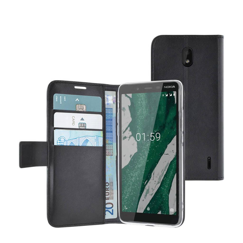 Azuri walletcover Nokia1+, Zwart