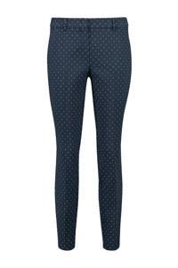 Expresso slim fit pantalon met stippen donkerblauw/wit, Donkerblauw/wit