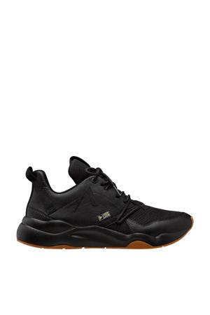 Asymtrix  leren sneakers zwart