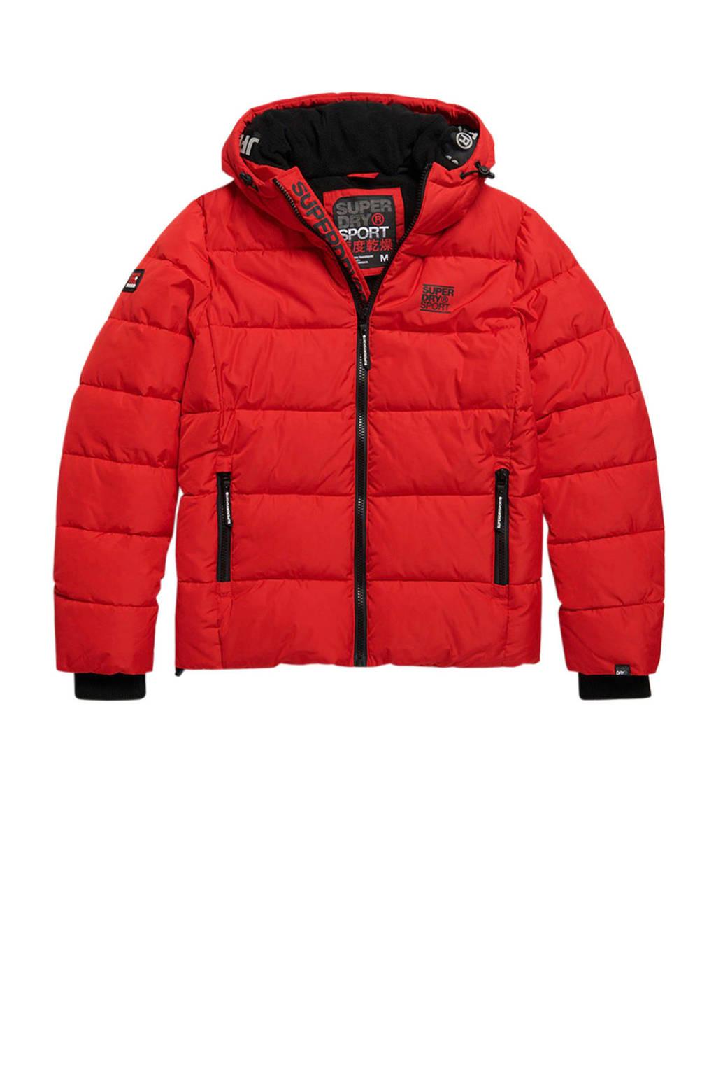 Superdry Sport winterjas rood, Rood