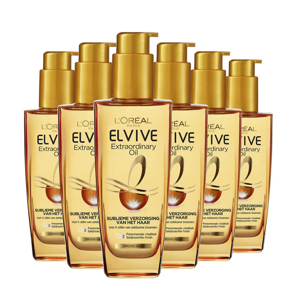 L'Oréal Paris Elvive Extraordinary Oil alle haartypes - 6x 100ml multiverpakking