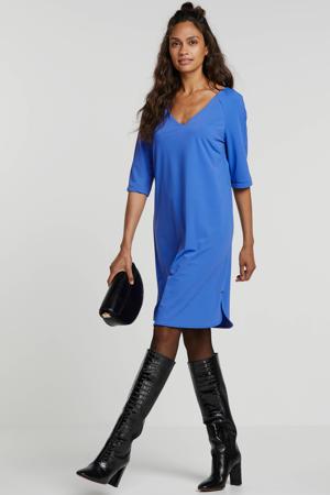 T-shirtjurk van travelstof blauw