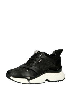 Aventur Low platform sneakers zwart