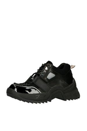 Quest Low platform sneakers zwart