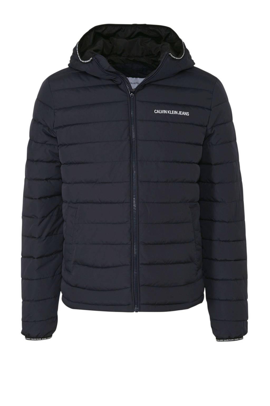 CALVIN KLEIN JEANS jas met capuchon, Donkerblauw