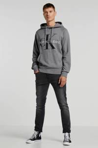 CALVIN KLEIN JEANS hoodie met logo grijs, Grijs
