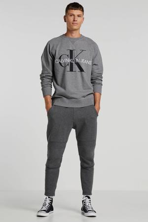 sweater met logo grijs