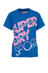 Superdry Sport T-shirt blauw, Blauw