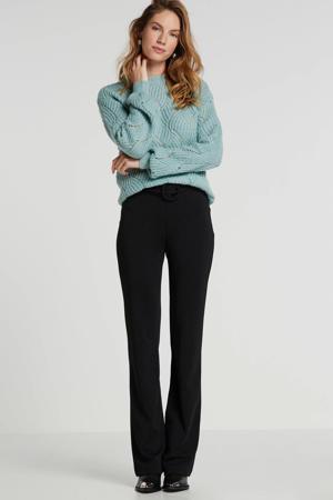 high waist wide leg legging zwart