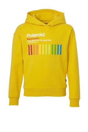 Hi hoodie met printopdruk geel/wit/multi