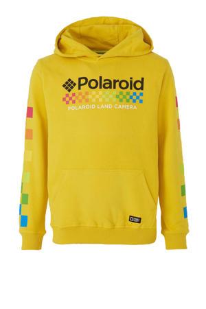 Hi hoodie met printopdruk geel/zwart/multi