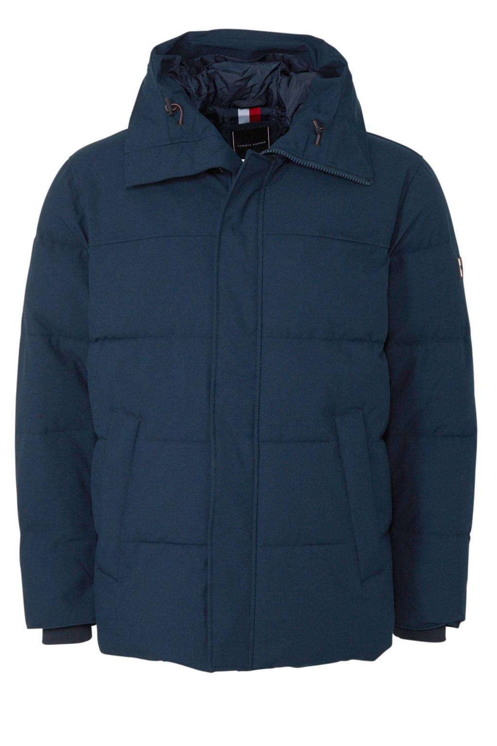 Tommy Hilfiger Big & Tall +size winterjas donkerblauw, Donkerblauw