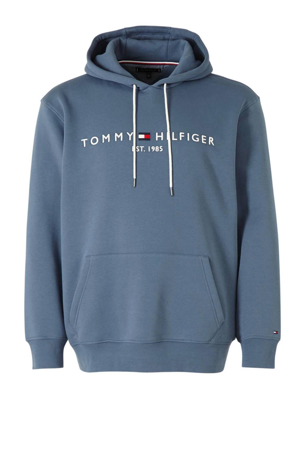 Tommy Hilfiger Big & Tall +size hoodie met logo en borduursels blauw, Blauw