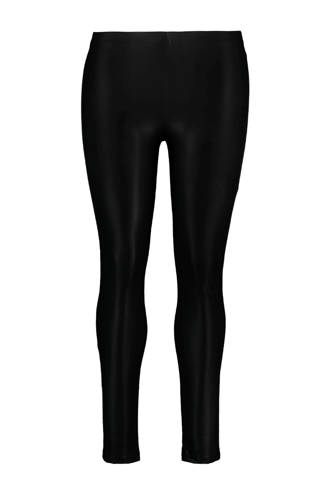 imitatieleren legging zwart