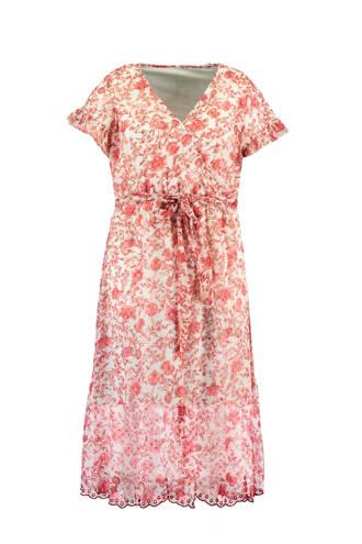 gebloemde maxi jurk met overslag