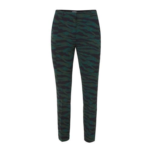 WE Fashion slim fit pantalon met all over print zw