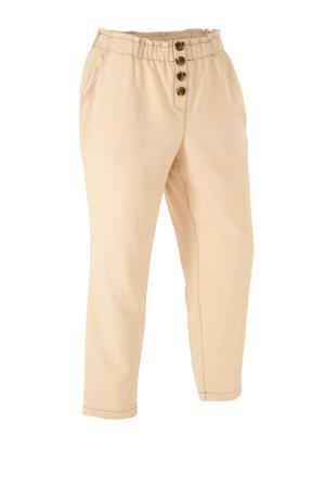 XL Yessica loose fit broek met linnen beige
