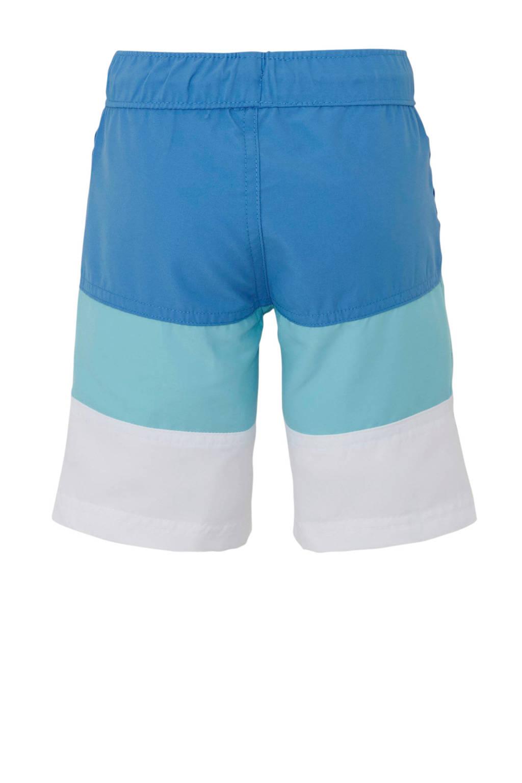C&A Palomino zwemshort met kleurvlakken blauw, Blauw/wit