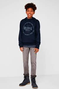 s.Oliver hoodie met printopdruk donkerblauw, Donkerblauw
