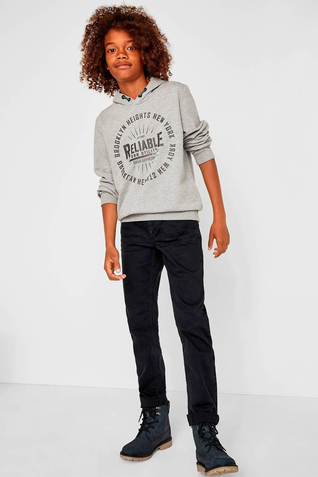 s.Oliver slim fit jeans zwart, Zwart