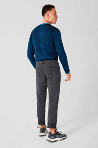Q/S designed by kanten slim fit chino Rick antraciet, Antraciet