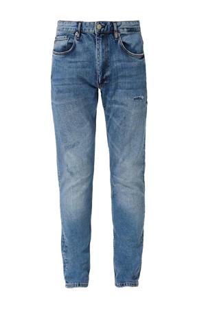 slim fit jeans Rick met slijtage