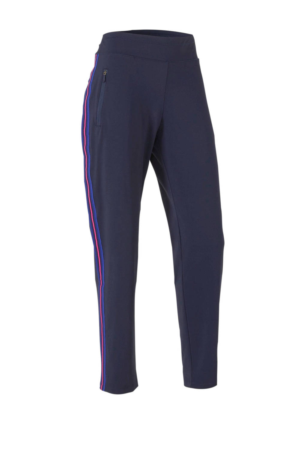 ESPRIT Women Sports broek donkerblauw, Donkerblauw/roze/blauw