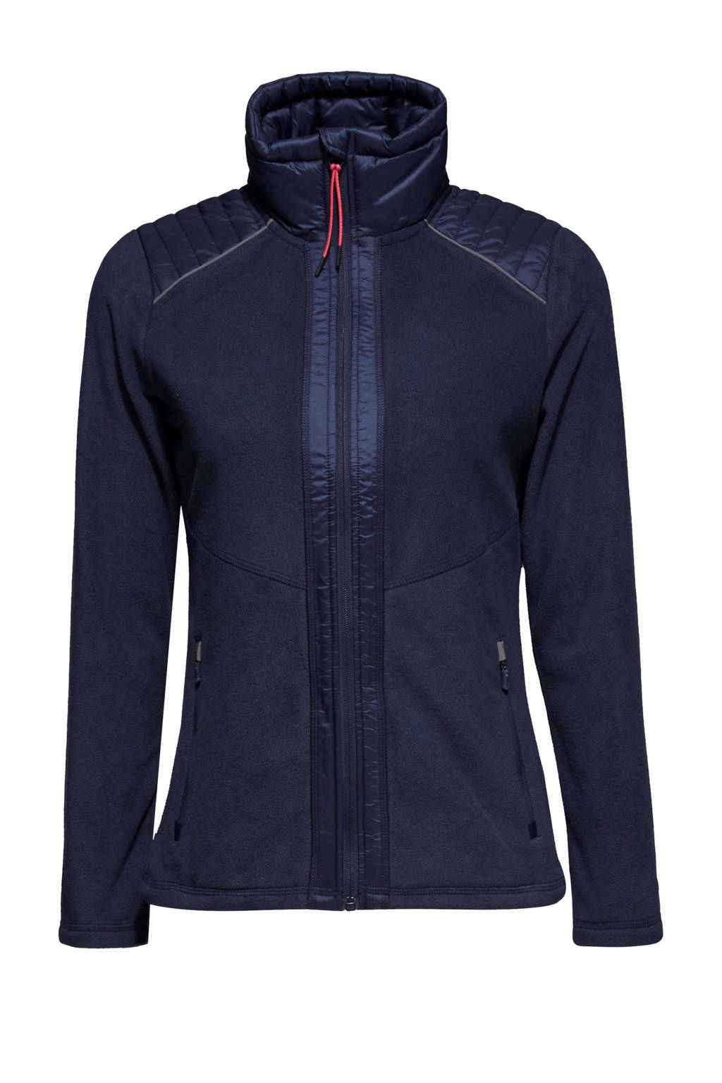 ESPRIT Women Sports fleece sportvest, Donkerblauw