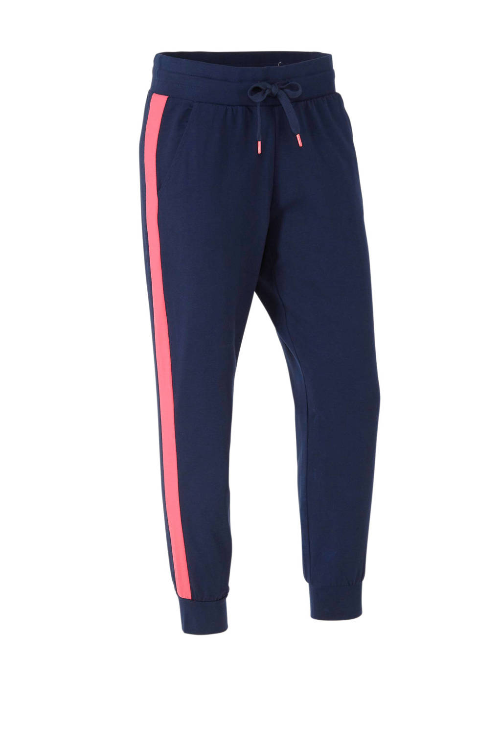 ESPRIT Women Sports joggingbroek donkerblauw, Donkerblauw/roze