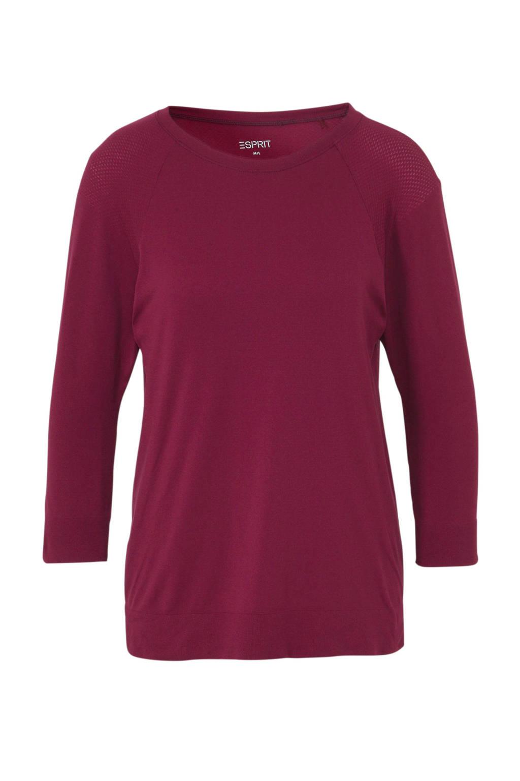 ESPRIT Women Sports T-shirt donkerroze, Donkerroze
