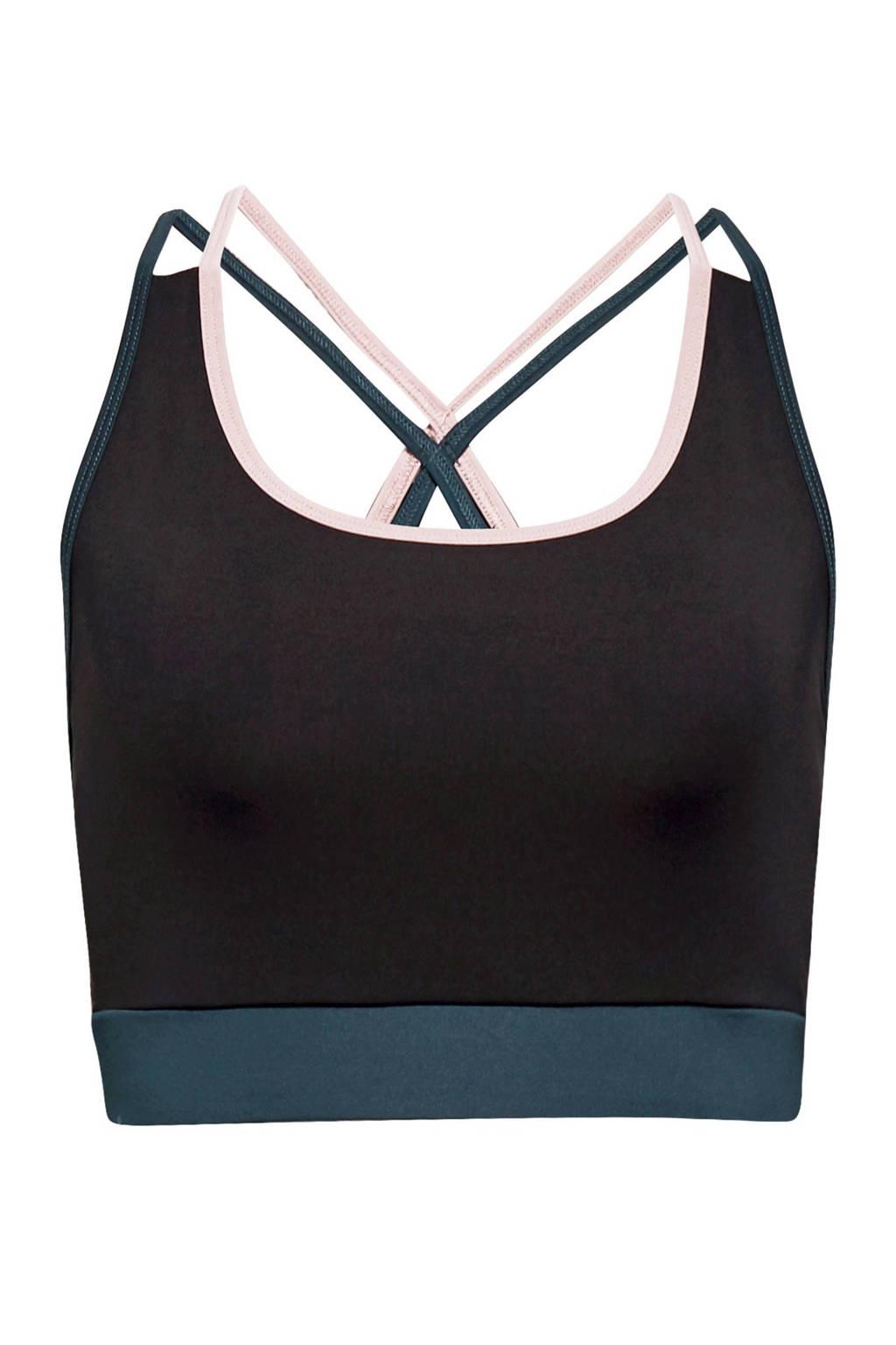ESPRIT Women Bodywear Level 1 sportBH antraciet, Antraciet/blauw/roze